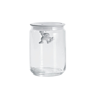 Alessi ALESSI Gianni Glass Storage Jar 700ml w/Lid WHITE