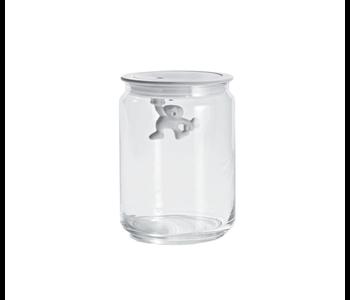 ALESSI Gianni Glass Storage Jar 700ml w/Lid WHITE