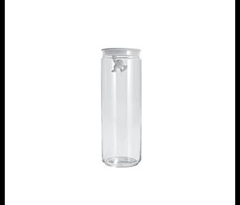 ALESSI Gianni Glass Storage Jar 2 L. w/Lid WHITE