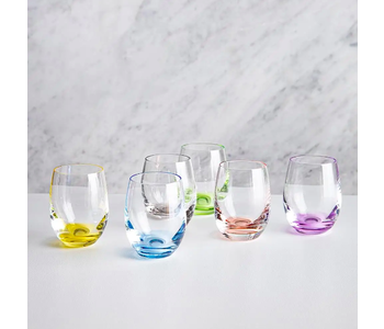 Rainbow Shot Glass/ Set of 6 assorted