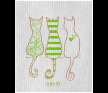 Swedish Cloth Cat Lover Green