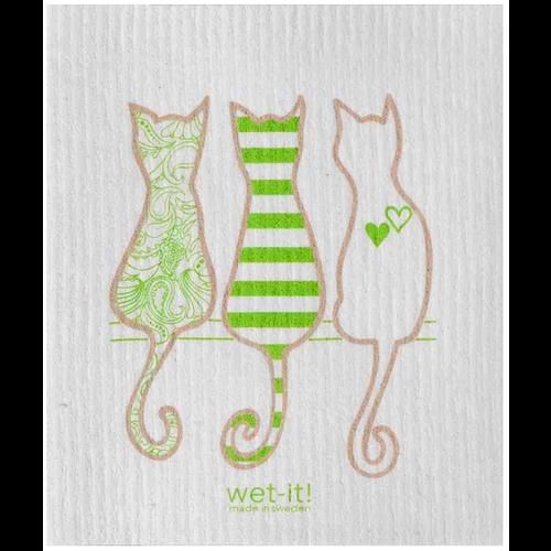 Swedish Cloth Swedish Cloth Cat Lover Green