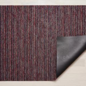 Chilewich Big Mat Skinny Stripe Shag MULBERRY - 36 x 60 inches