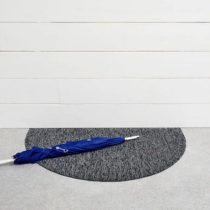 Chilewich Welcome Mat Heathered Shag GREY 21 x 36 inches