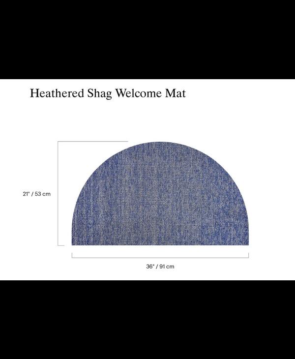 Welcome Mat Heathered Shag FOG 21 x 36 inches