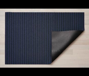 Utility Mat Block Stripe Shag BLUEBERRY 24 x 36 inches