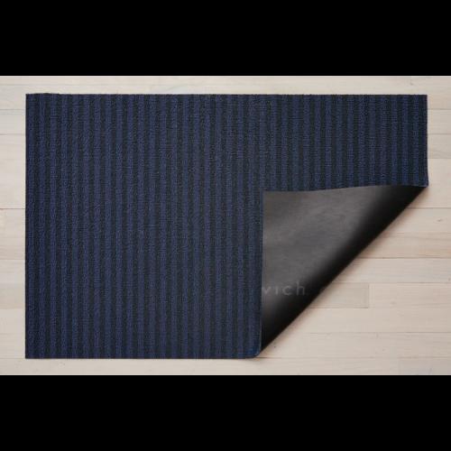 Chilewich Utility Mat Block Stripe Shag BLUEBERRY 24 x 36 inches