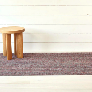 Chilewich Doormat Skinny Stripe Shag MULBERRY 18 x 28 inches