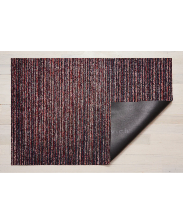 Doormat Skinny Stripe Shag MULBERRY 18 x 28 inches
