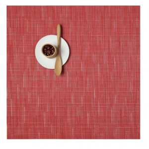 Placemat Bamboo Square POPPY