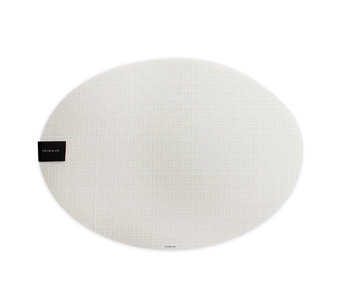 Placemat Bay Weave Oval VANILLA