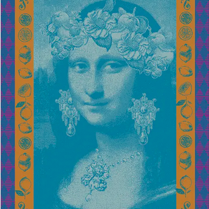 Garnier Thiebaut Garnier Thiebaut Tea Towel Mona Lisa Bleu