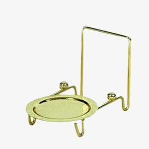 Carol's Nicetys Tea Cup and Saucer Display Easel Gold