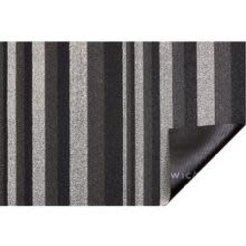 Chilewich Utility Mat Bounce Stripe Shag MOONLIGHT 24 x 36 inches