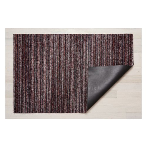 Chilewich Utility Mat Skinny Stripe Shag MULBERRY 24 x 36 inches
