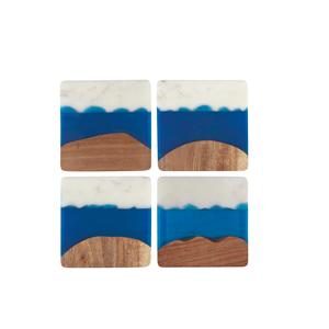 Danica Coaster Skyline Azure/  Set/4