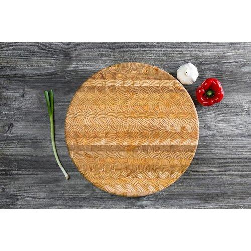 LARCH WOOD LARCH WOOD Professional Round Cutting Board