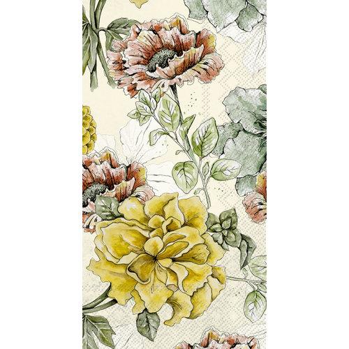 Carsim Napkin/Guest Towel Paper BLOSSOM TALE CREAM