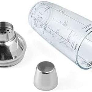 HOUDINI HOUDINI Glass Cocktail Shaker Clear