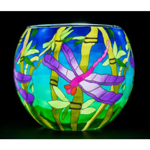 "Benaya Handcrafted Art Decor LIGHT GLASS Dragonfly 3.5"" x 4"""