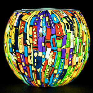 "Benaya Handcrafted Art Decor LIGHT GLASS Kaleidoscope 3.5"" x 4"""