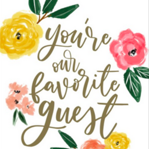 OCD Napkin Guest Paper You're our Favorite Guest