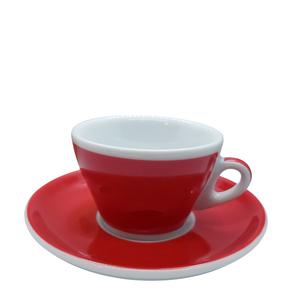 Ancap MILLECOLORI Cappuccino Cup and Saucer Torino Red