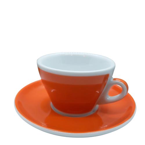 Ancap MILLECOLORI Cappuccino Cup and Saucer Torino Orange