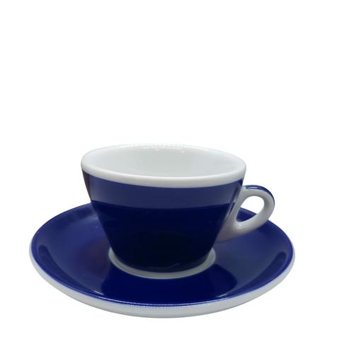 Ancap MILLECOLORI Cappuccino Cup and Saucer Torino Blue
