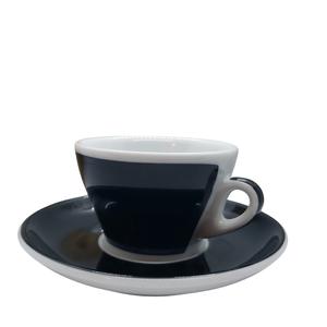 Ancap MILLECOLORI Cappuccino Cup and Saucer Torino Black