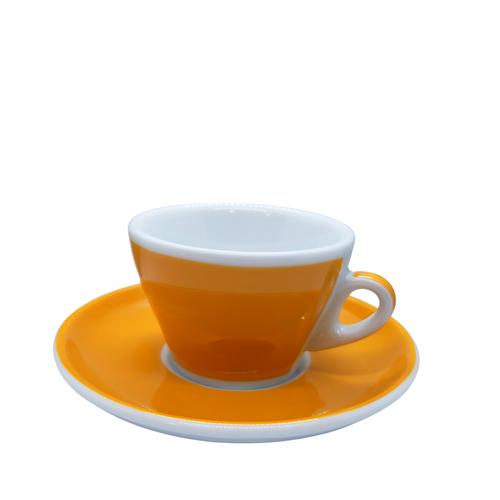 Ancap MILLECOLORI Cappuccino Cup and Saucer Torino Yellow