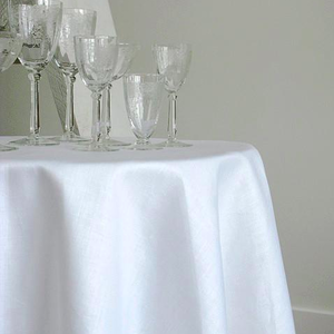 Linenway Tablecloth Stockholm White 120 ins. ROUND
