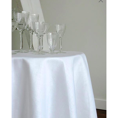 Linenway Tablecloth Stockholm White 70 ins. ROUND