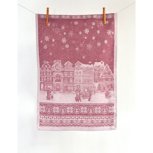 Linenway Tea Towel Holiday Red