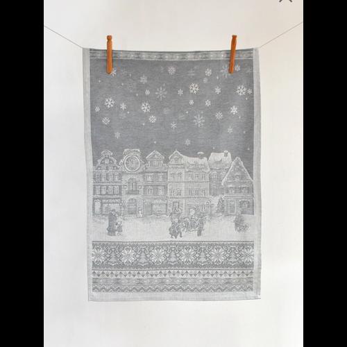 Linenway Tea Towel Holiday Grey