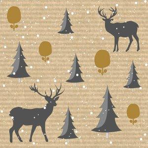 OCD Napkin Dinner Dunisoft Deer Forest