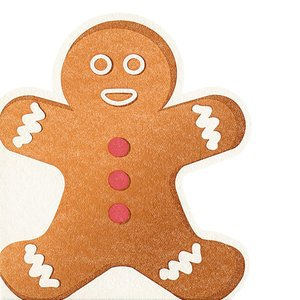 OCD GINGERBREAD Silhouette Airlaid Paper Napkins