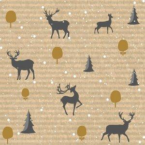 OCD Napkin Lunch Paper Deer Forest
