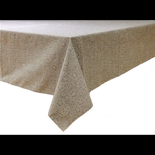 Epicure Linen Tablecloth Grey Confetti Floral 70 x 108
