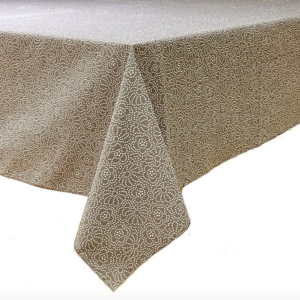 Epicure Linen Tablecloth Grey Confetti Floral 70 x 90