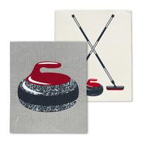 Swedish Cloth Rock & Broom/ Set of 2