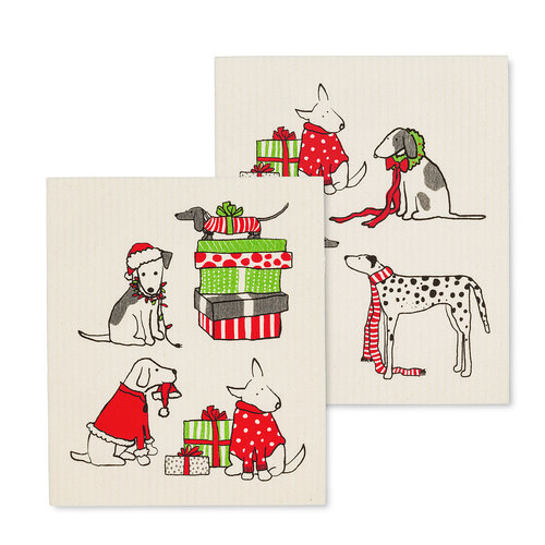Abbott Swedish Cloth  HOLIDAY DOGS/ Set of 2