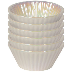 Danica BAKING CUP PEARL WHITE/ SET OF 6