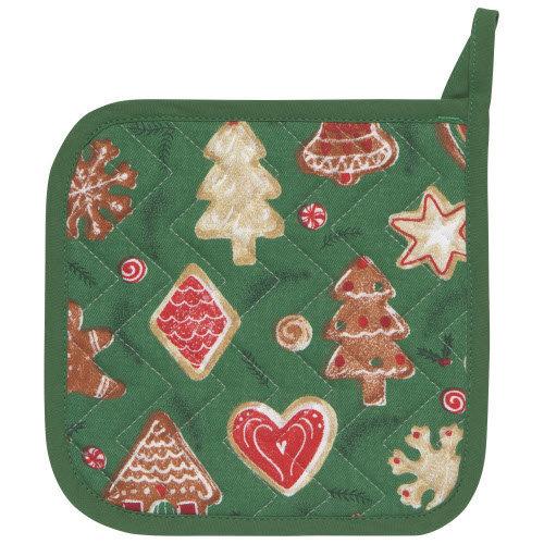 Danica Pot Holder Patterned Set/2 Christmas Cookies