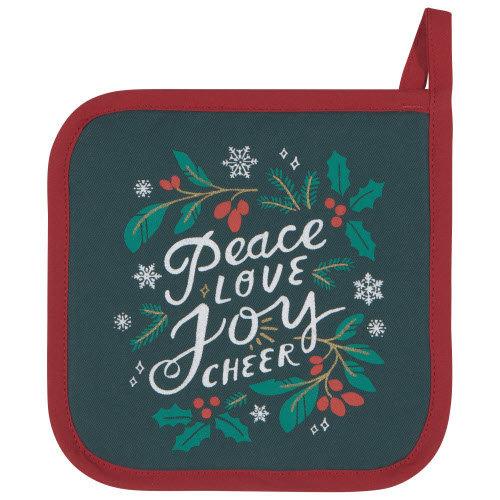 Danica Pot Holder Patterned Set/2 Peace & Joy