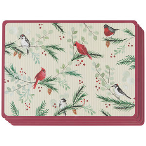 Danica PLACEMAT CORK-BACKED FOREST BIRDS/ SET OF 4