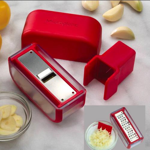 Microplane MICROPLANE Garlic Mince & Slice Set Red
