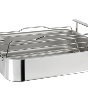 Cristel USA Inc. CRISTEL Roaster 3 Ply 15 x 12.5 inches with rack and thermometer