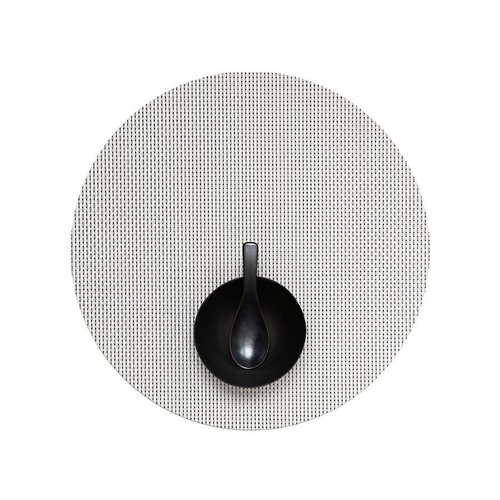 Chilewich Placemat Basketweave Round WHITE