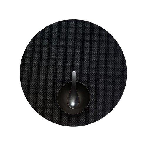 Chilewich Placemat Basketweave Round BLACK